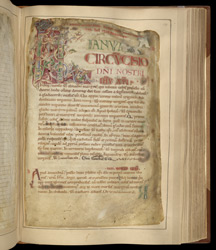 Historiated Initial With Capricorn, In The Martyrology Of St. Augustine's, Canterbury